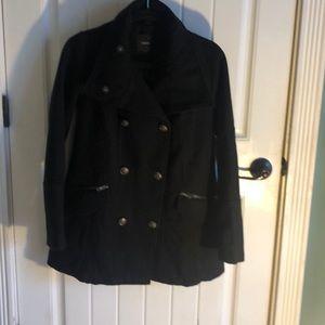 Women's Black Pea coat jacket